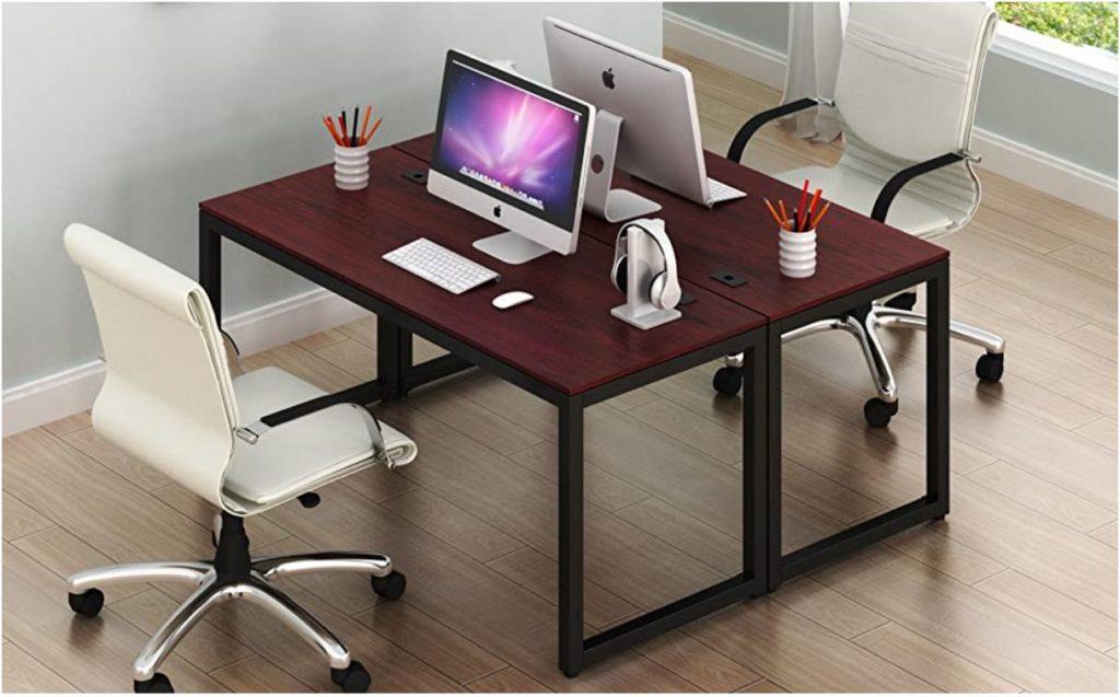 This image has an empty alt attribute; its file name is SHW-Desks-SHW-Home-Office-55-Inch-Large-Computer-Desk-shwdesks.com-Black-Cherry-Espresso-Silver-Frame-W-Grey-Top-Walnut-Oak-two_ys-1024x637.jpg
