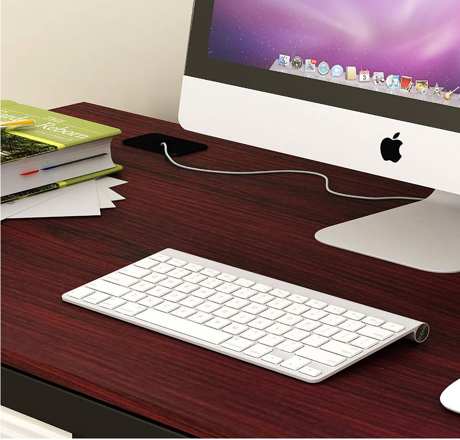 This image has an empty alt attribute; its file name is SHW-Desks-SHW-Home-Office-55-Inch-Large-Computer-Desk-shwdesks.com-Black-Cherry-Espresso-Silver-Frame-W-Grey-Top-Walnut_ys.jpg